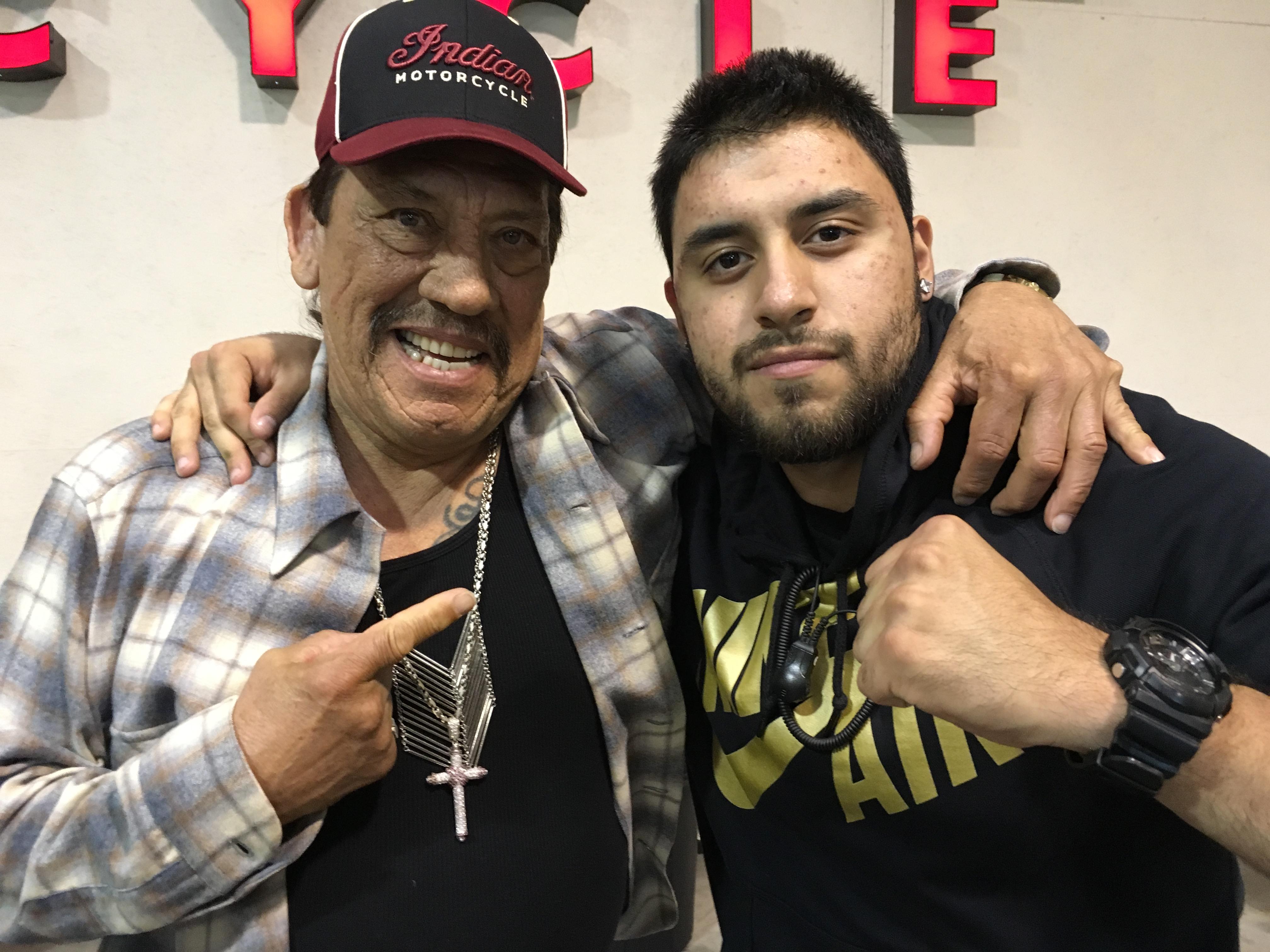 Cesar Sosa with Danny Trejo
