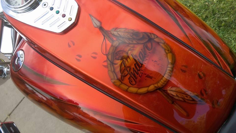 Custom Indian Motorcycle detail