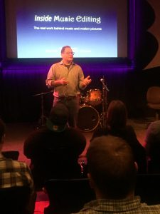 Music Editor Steven Saltzman talks to IPR students