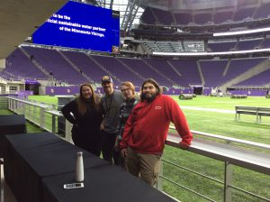 Live Sound and Show Production students at US Bank Stadium for a charity gig. Photo by Peter Greenlund