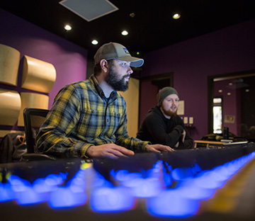 students learn career skills in studio