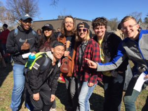 Students From IPR pose with local local musician Jeremy Messersmith